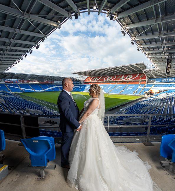 Wedding photography Cardiff city stadium